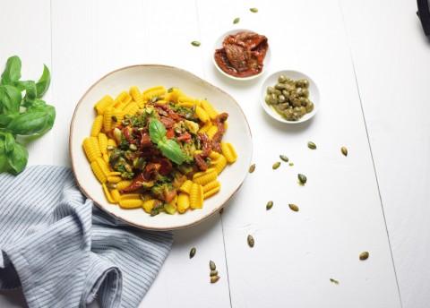 Vegan & glutenvrije pasta pomodori