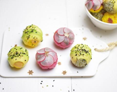 Rijstballetjes met umeboshi (Japanse pruim)